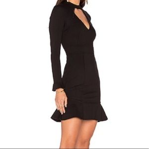 N/Nicholas long sleeve ponte cutout dress NWT